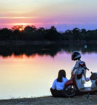 Recuperarse gran viaje en moto