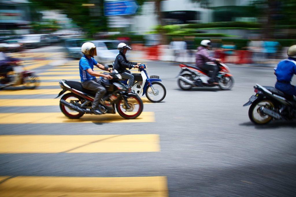 motos en ciudad